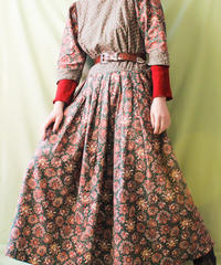 【tiny yearn】Euro Flower Hand Made Maxi Dress