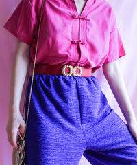 【tiny yearn】Pink Silk China Blouse