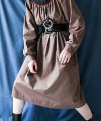 【Seek nur】Gather Flare Line Dress