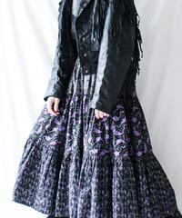【Seek nur】Handmade Cotton Tiered Skirt