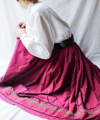 【Seek nur】Tyrolean tape Circular Skirt