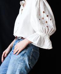 【Seek an nur】Euro White Silk Blouse