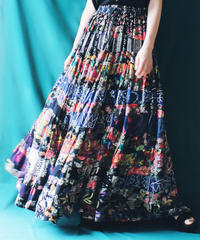 【Seek an nur】India Patchwork Maxi Skirt