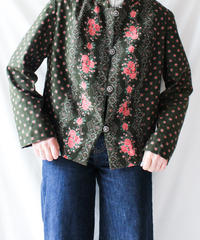 【Seek an nur】Euro  Flower Tyrol Jacket