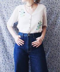 【Seek an nur】Euro Flower Embroidery Cardigan