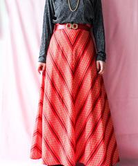 【tiny yearn】Euro Chevron×Dot Maxi Skirt