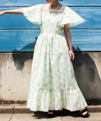 【tiny yearn】1970's Flower Maxi Dress