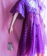 【tiny yearn】Organdie Dot Gown Dress