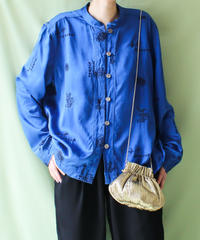 【tiny yearn】Embroidery Silk China Blouse