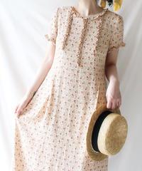 【Seek an nur】Flower Frill Long Dress