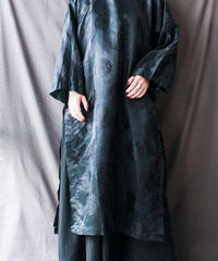 【Seek nur】Black Slit Design China Dress