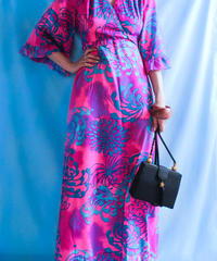 【tiny yearn】1970's  Psychedelic Maxi Dress