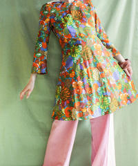 【tiny yearn】70's Flower Mini Dress