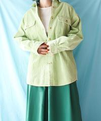 【tiny yearn】Corduroy Over Shirt/Light green