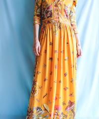 【tiny yearn】1970's Leaf Pattern Maxi Dress