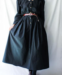 【Seek nur】Cutout Design Black Shirt Dress