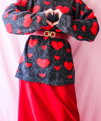 【tiny yearn】England Heart Design Long Sweater