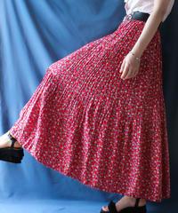 【Seek an nur】Flower Gather Tierd Long Skirt