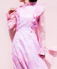 【tiny yearn】1970's Flower Sheer Dress