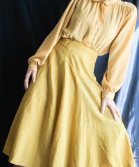 【Seek nur】Mustard Yellow Blouse