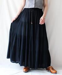 【Seek an nur】Euro Black Tiered  Maxi Skirt