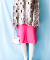 【tiny yearn】 Neon Pink Knit Skirt