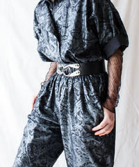 【Seek an nur】Euro Metallic Design Jumpsuit