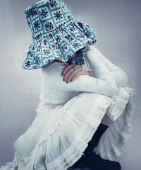 【Sway】<Blue lattice Flowers> Boonie Hat