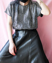 【tiny yearn】Metallic Design Lib Tops