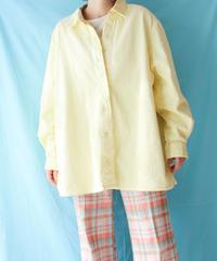 【tiny yearn】Corduroy Over Shirt/Yellow