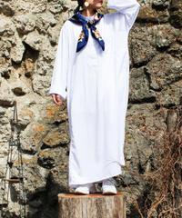 【Seek an nur】White Over Stripe Shirt Dress