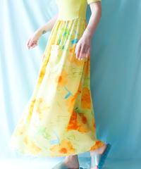 【tiny yearn】Euro Flower Long Dress