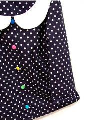 カラフルボタンの水玉シャツ♡
