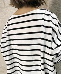 """border Boatneck pullover  """"3color""""[209927511]"""