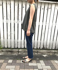 "linen cotton sleeveless ""3color"" [201937630]"