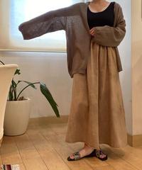 Cotton linen knit  big cardigan [2603803]