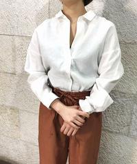 """Linen Skipper shirt """"2color""""[211927573]"""