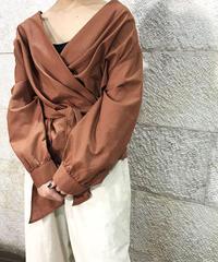 "Linen cotton Kashukuru blouse ""2color""[211927568]"