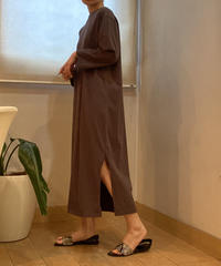 cotton jersey_ side slit dress [2603709]