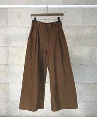"Cotton twill tack wide pants  ""2color""[209937527]"