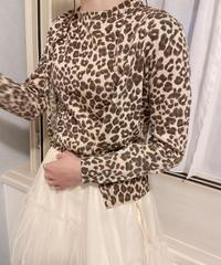 leopard set blouse