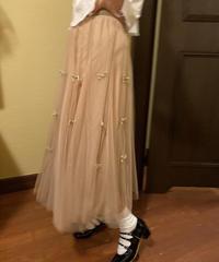 ribbon motif tulle skirt