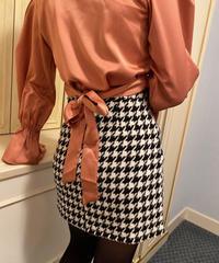satin back ribbon blouse