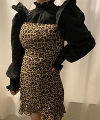 leopard camisole one-piece