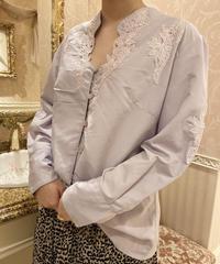 pastel purple blouse