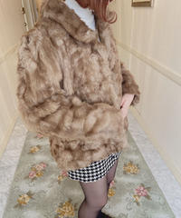 Vintage far coat brown