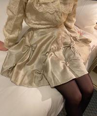 volume ribbon skirt