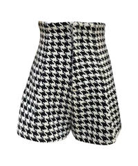 Mini Check pants / black