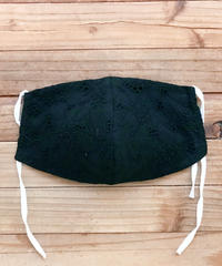 クール立体マスク*BLACK華(大人サイズL)接触冷感