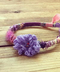 ニットカチューシャ*purpleガール
